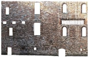 Point cloud of a masonry wall.